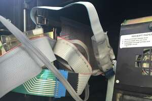 Credit card skimmers like this one found by the San Antonio Police Department can be placed inside gas pumps and steal the financial information of unsuspecting customers.