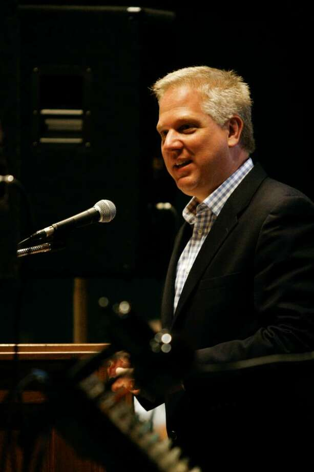 Conservative TV and radio host, Glenn Beck, speaks at the Stamford Police Association's Officers of the Year ceremony on Friday, June 25, 2010 at the Italian Center. Photo: Laura Buckman / Connecticut Post