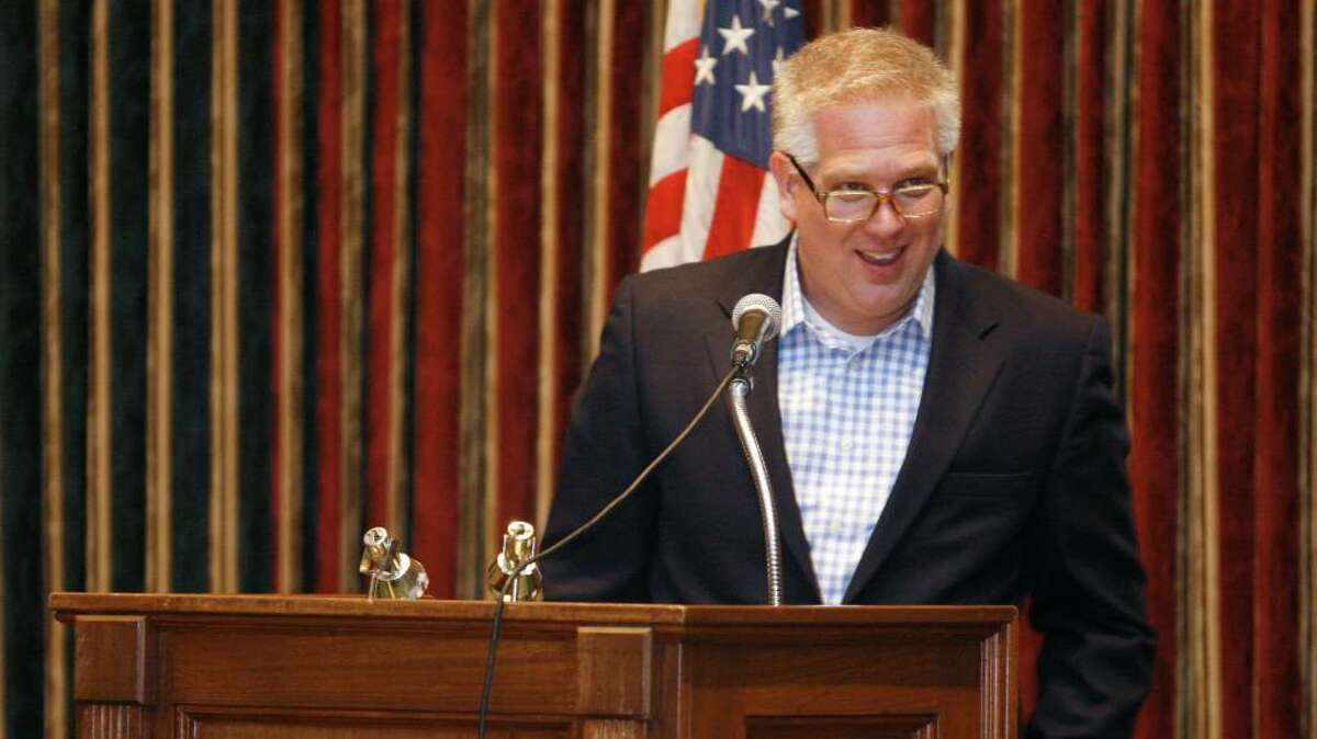 Conservative TV and radio host, Glenn Beck, speaks at the Stamford Police Association's Officers of the Year ceremony on Friday, June 25, 2010 at the Italian Center.