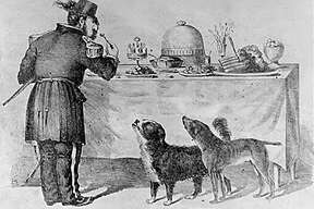 """""""The Three Bummers"""": Bummer, Lazarus and Emperor Norton in a cartoon by Edward Jump."""