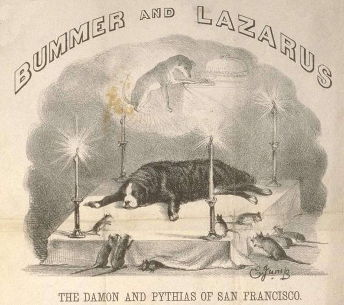 Edward Jump's lithograph of Bummer lying in state.