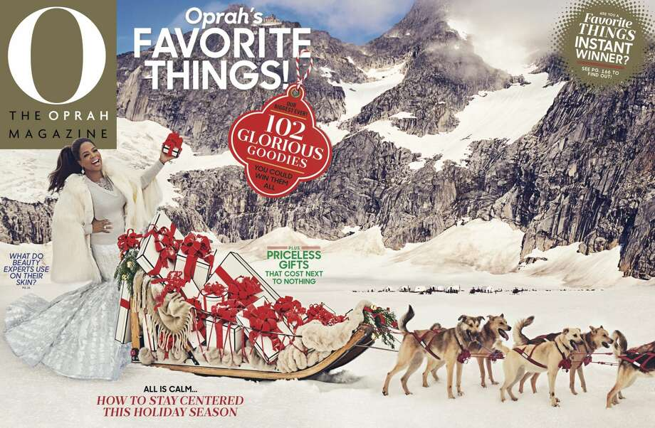 The December cover for Oprah Winfrey Magazine, which includes the Oprah's Favorite Things list. Photo: Ruven Afanador