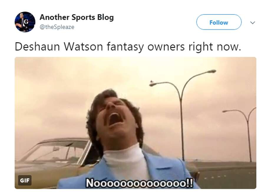 Source: @theSpleazeBrowse through the photos for more of the reactions to Deshaun Watson's season ending injury.  Photo: Twitter: