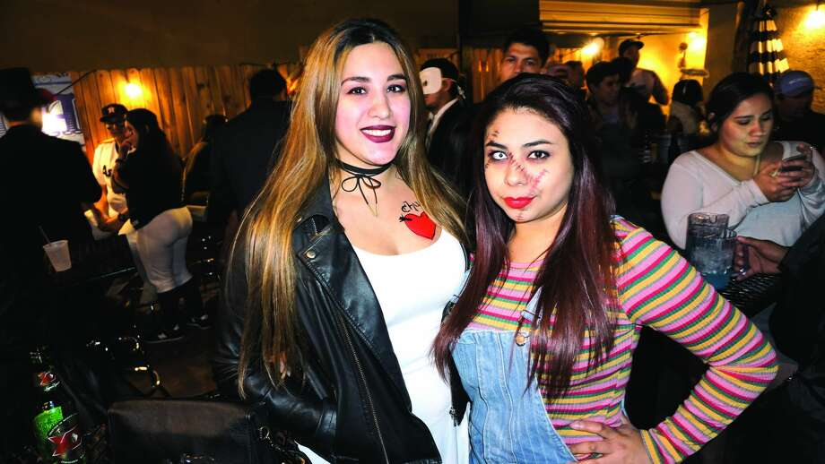 Debbie Carillo and Roxie Soto at The Happy Hour Downtown BarFriday, November 3, 2017 Photo: Jose Gustavo Morales