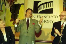 Conductor Michael Tilson Thomas , is announced to be the replacement for Herbert Blomstedt in 1995, June 23, 1993