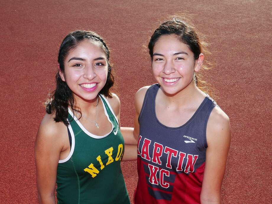 Nixon's Alexa Rodriguez and Martin's Samantha Gonzalez will compete in the Class 5A State Cross Country Championships on Saturday. Photo: Cuate Santos / Laredo Morning Times / Laredo Morning Times