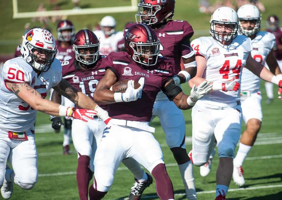 Southern Illinois Carbondale's Craig James returns a punt 30 yards during a regular season game against Illinois State earlier in the season.
