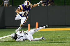 UAlbany FB/TE Anthony Manzo-Lewis said the Great Danes should be fired up to face state rival Stony Brook on Saturday. (Hans Pennink/Special to the Times Union)