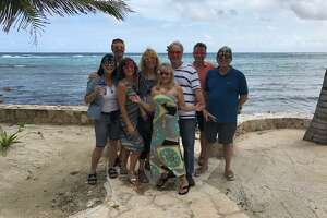 Things started off light and easy for a client retreat hosted by Greenwood King's Sharon Brier and her husband, Mike (center) — but it became an abbreviated adventure.