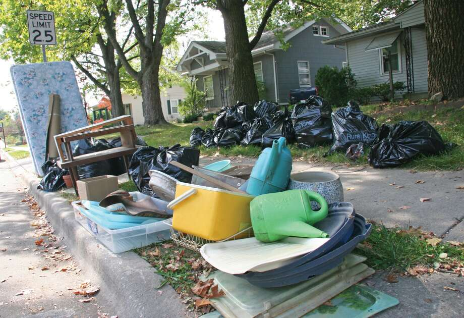 Trash sits curbside during a previous large item pickup week in Edwardsville. Photo: Marci Winters-McLaughlin • For The Intelligencer