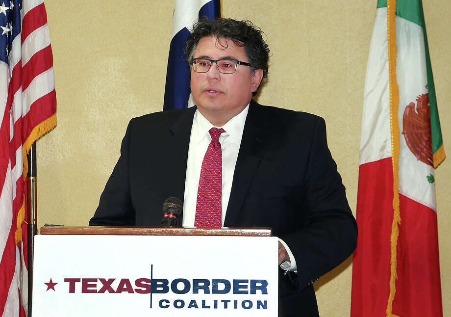 Texas Secretary of State Rolando Pablos was the keynote speaker at the  Texas Border Coalition Annual Meeting in Laredo, at La Posada Hotel, Thursday, November 2, 2017. Photo: Cuate Santos/Laredo Morning Times