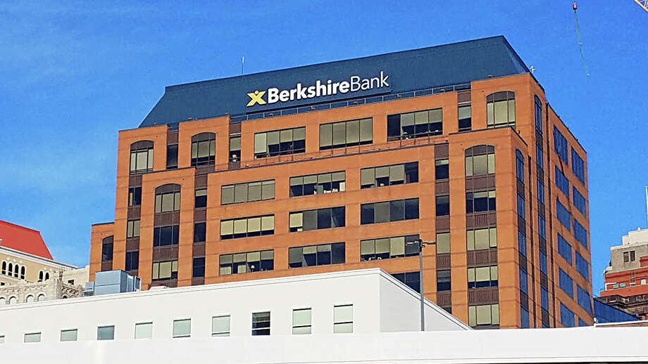 Berkshire Bank's new sign on the former KeyCorp headquarters. Photo: Berkshire Bank