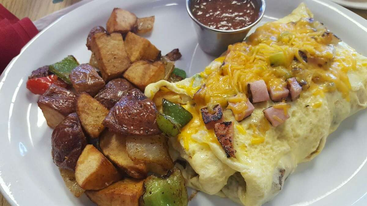 """Omelette & Waffle Restaurant 8533 Beechnut, Houston Yelp review by Stephanie E: """"My favorite omelette spot in town! The Mexican Omelette is our favorite, it's light and fluffy always cooked just right, along with the homemade salsa!""""Photo: Yelp/Phillip B"""