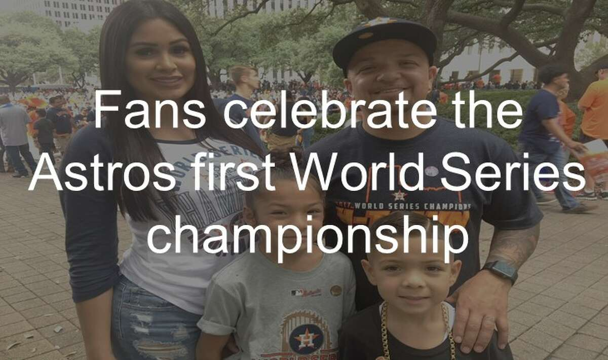 See fans celebrate the Astros' World Series victory on Nov. 3, 2017.