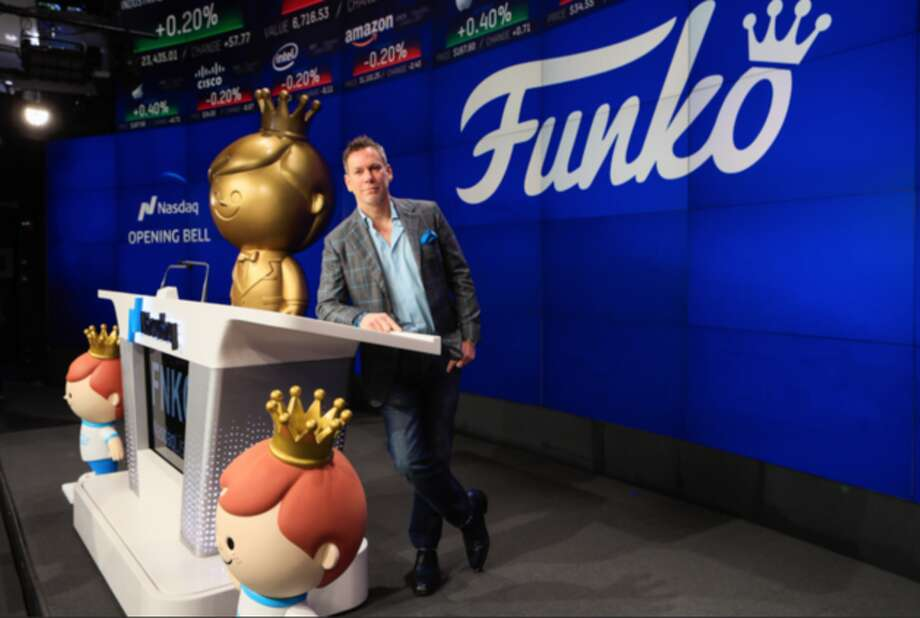 Funko CEO Brian Mariotti rang the Nasdaq opening bell Thursday. Photo: Nasdaq Photo