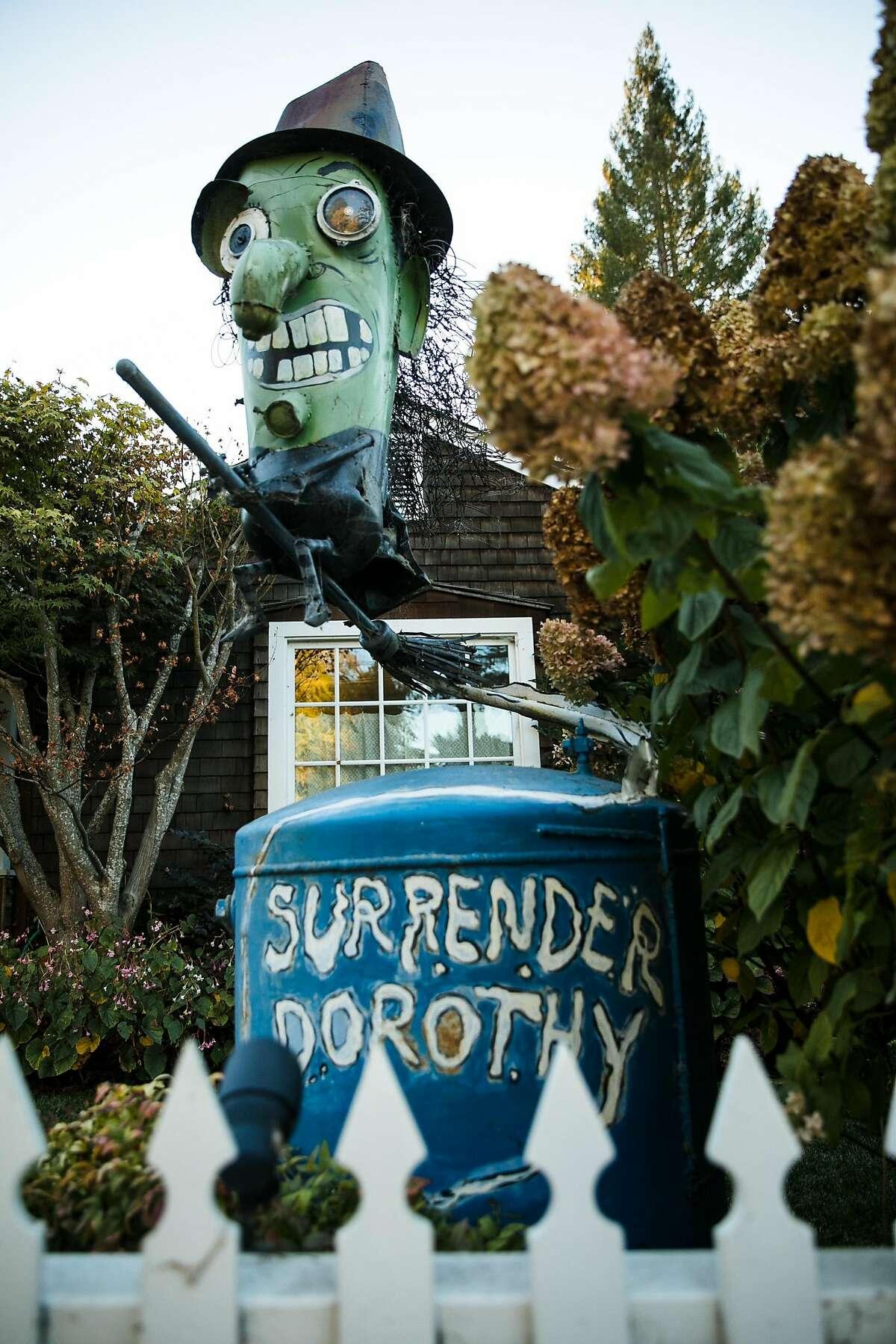 Surrender Dorothy statue photographed in Sebastopol, Calif. Wednesday, October 25, 2017.