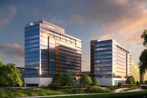 CPS Energy's new headquarters will be at the remodeled tower blocks at Avenue B and McCullough Avenue along the San Antonio river.