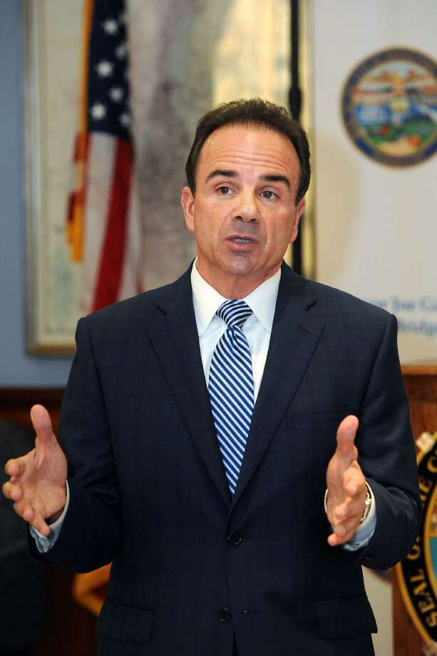 Mayor Joe Ganim speaks about what impact the recently passed state budget will have on the City of Bridgeport during a press conference in his office in Bridgeport, Conn. Nov. 3, 2017. Photo: Ned Gerard / Hearst Connecticut Media / Connecticut Post