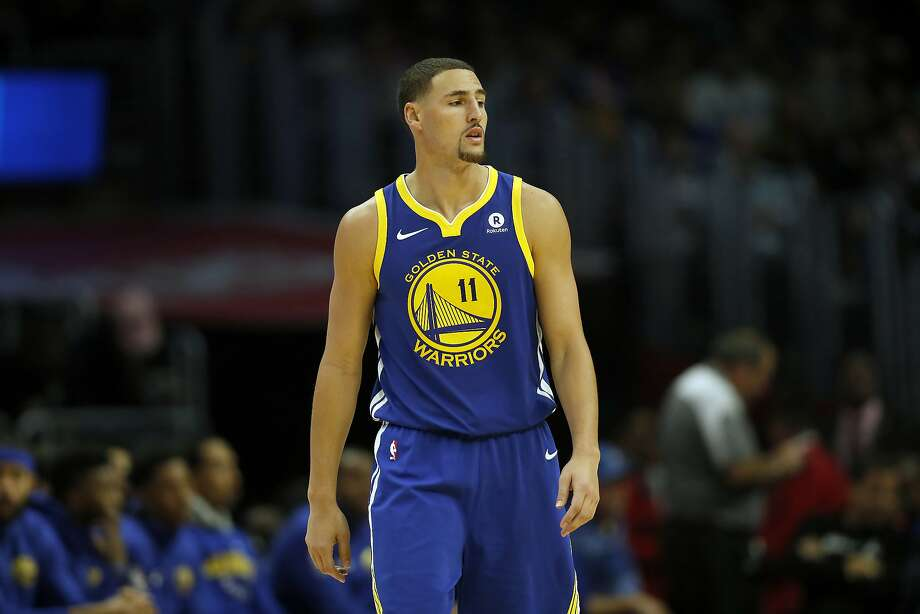Golden State Warriors guard Klay Thompson is seen during the second half of an NBA basketball game against the Los Angeles Clippers, Monday, Oct. 30, 2017, in Los Angeles. (AP Photo/Ryan Kang) Photo: Ryan Kang, Associated Press