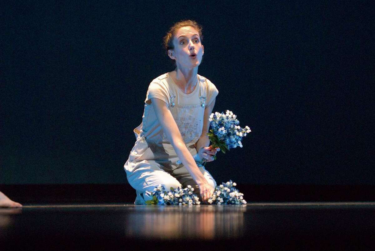 Karen Stokes performs a scene from the 2003 debut of her Houston-centric dance,