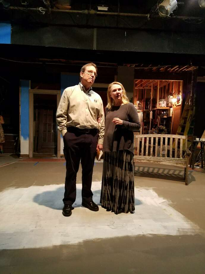 """""""The Trip to Bountiful"""" will be on stage at Town Players' Little Theatre in Newtown, Friday, Nov. 10, through Saturday, Dec. 2. Seen in rehearsal are Christopher Bird and Deborah Carlson. Photo: Brian DeToma / Contributed Photo"""