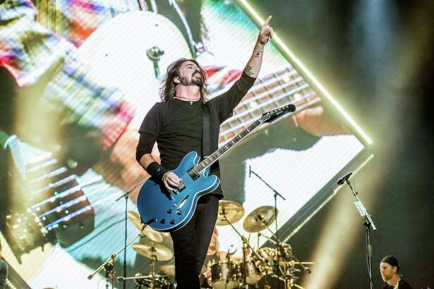 Dave Grohl of the Foo Fighters performs at the Voodoo Music Experience in City Park on Saturday, Oct. 28, 2017, in New Orleans. (Photo by Amy Harris/Invision/AP)