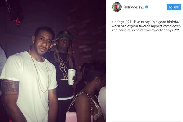 """Lil Wayne aldridge_121: """"Have to say it's a good birthday when one of your favorite rappers come down and perform some of your favorite songs."""""""