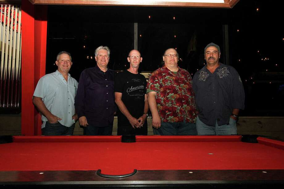 """The Knott Brothers, pictured left to right, are Marlin Golmon, William """"Snuffy"""" Campbell, Clayton Keen, Michael """"Doc"""" Smith and Tom Janise. The band will be performing at, as well as hosting, the weekly open mic night event on Tuesday, Nov. 14, at Rikenjaks Brewing Company in Vidor. Photo courtesy of the Knott Brothers Photo: Photo Courtesy Of The Knott Brothers"""