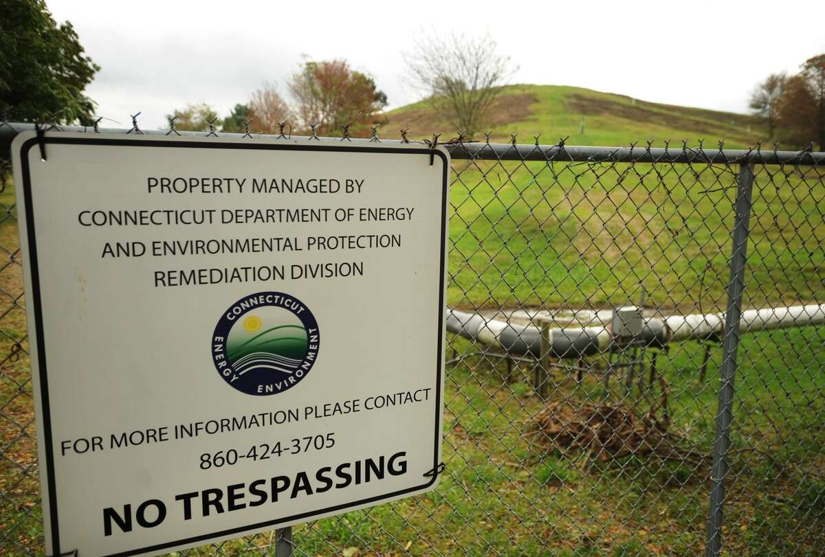 The former city landfill on River Road in Shelton, Conn. on Thursday, November 2, 2017. The Department of Energy and Environmental Protection has a plan to erect a field of solar panels on the site.