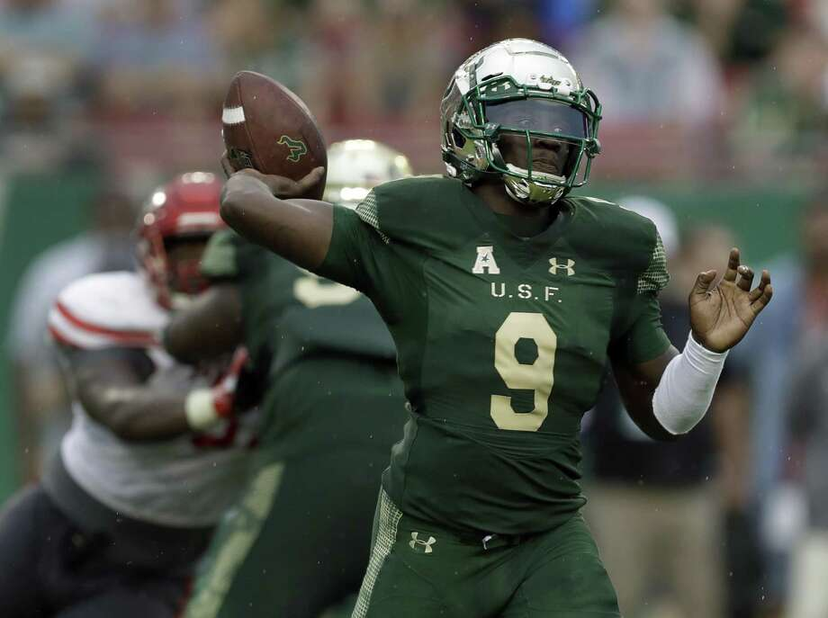 South Florida quarterback Quinton Flowers is one of eight active FBS players with more than 10,000 yards of total offense Photo: Associated Press File Photo / Copyright 2017 The Associated Press. All rights reserved.