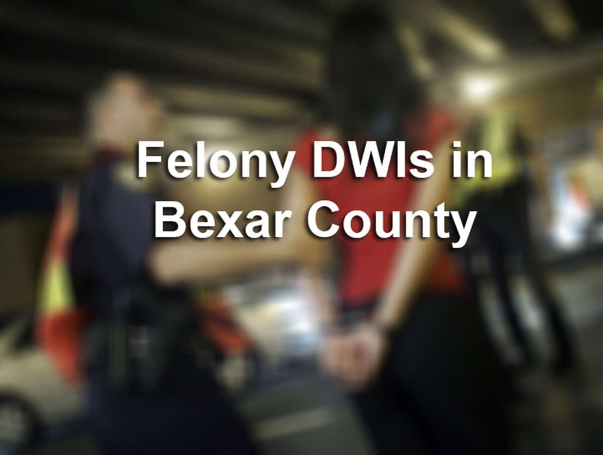 Keep clicking to see those arrested on felony DWI Charges in September in Bexar County