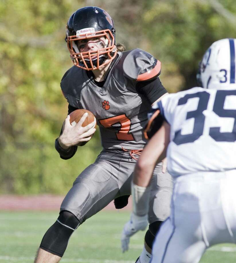 Ridgefield High senior quarterback Greg Gatto has thrown for 1,983 yards and 25 touchdowns in leading the Tigers to a 5-2 record. Photo: Scott Mullin / For Hearst Connecticut Media / The News-Times Freelance