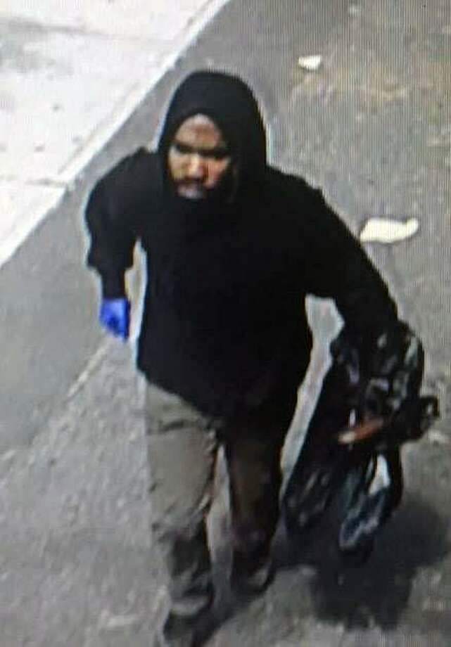 Bridgeport, Conn., police are looking to identify a suspect in an armed robbery on Sept. 29, 2017. Contact police at 203-581-5286. Photo: Contributed Photo / Bridgeport Police Department / Contributed Photo / Connecticut Post Contributed