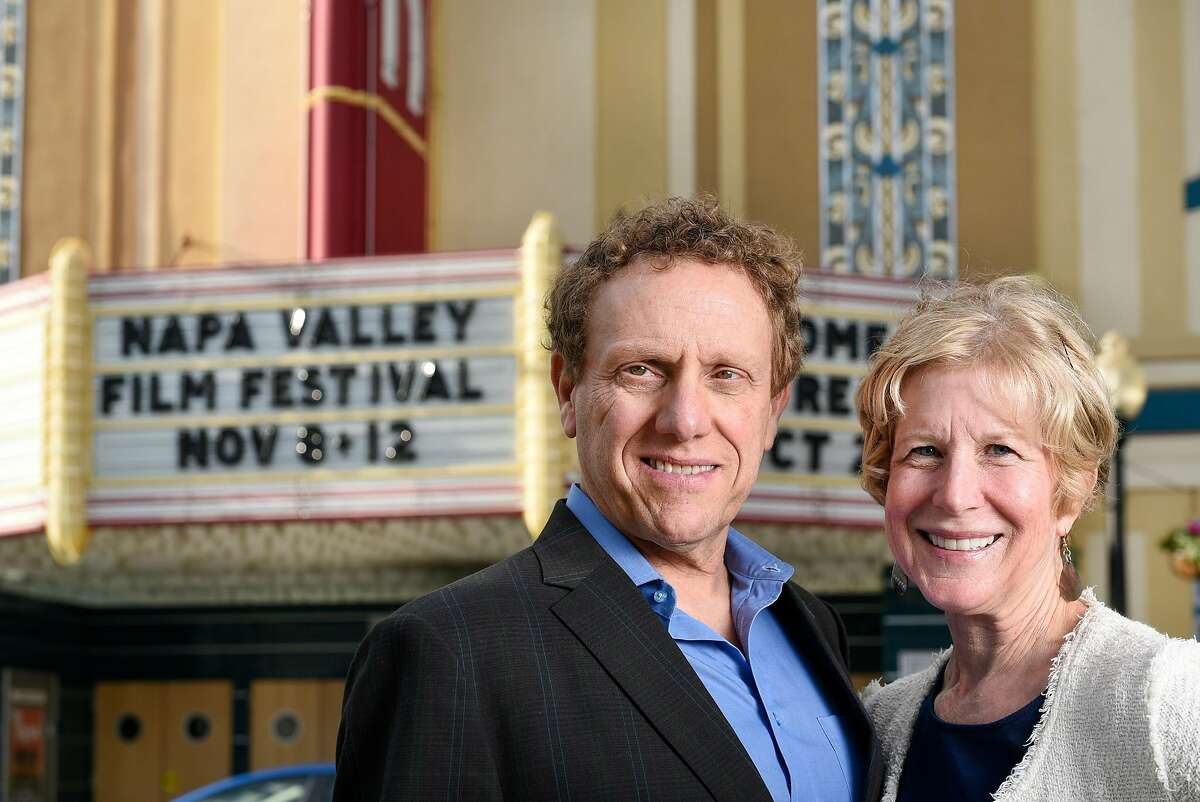 Napa Film Festival founders Marc and Brenda Lhormer pose for a portrait in front of the Uptown Theater in Napa, CA, on Sunday October 29, 2017.