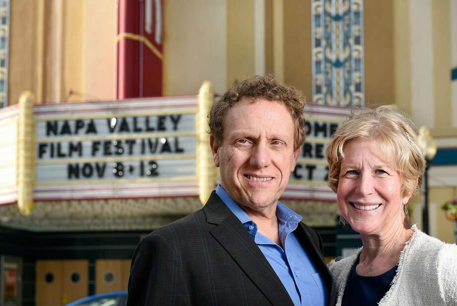 Napa Valley Film Festival founders Marc and Brenda Lhormer pose at the Uptown Theater in Napa on Sunday, Oct 29. Photo: Michael Short, Special To The Chronicle