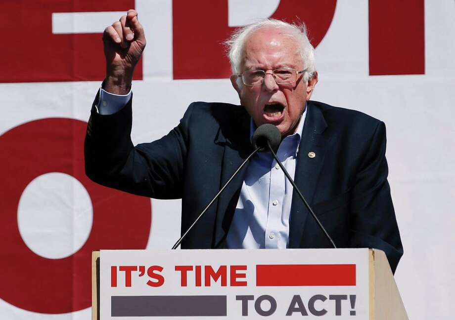 Sen. Bernie Sanders during a nurses convention rally at Yerba Buena Gardens on Sept. 22 in San Francisco, Calif. Sanders promoted his Medicare for All 2017 plan. It's fatal flaw lies in its premise — that health care is a right. It is not. Photo: Santiago Mejia /The Chronicle / ONLINE_YES