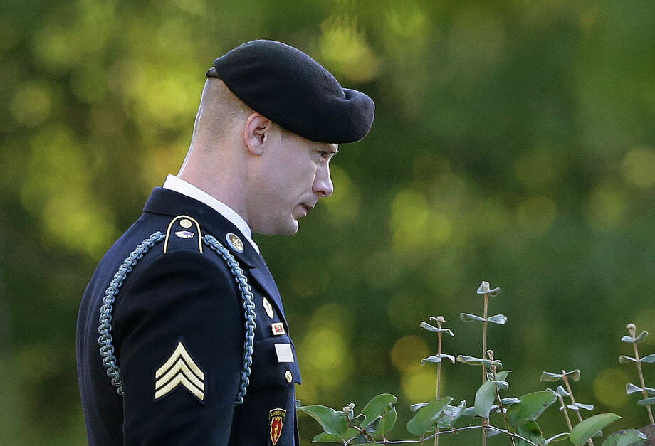 Disgraced Army Sgt. Bowe Bergdahl already has a job offer from an animal sanctuary, and a survival training company would like to use him when it provides lectures on how to survive captivity. Photo: Gerry Broome, STF / Copyright 2017 The Associated Press. All rights reserved.