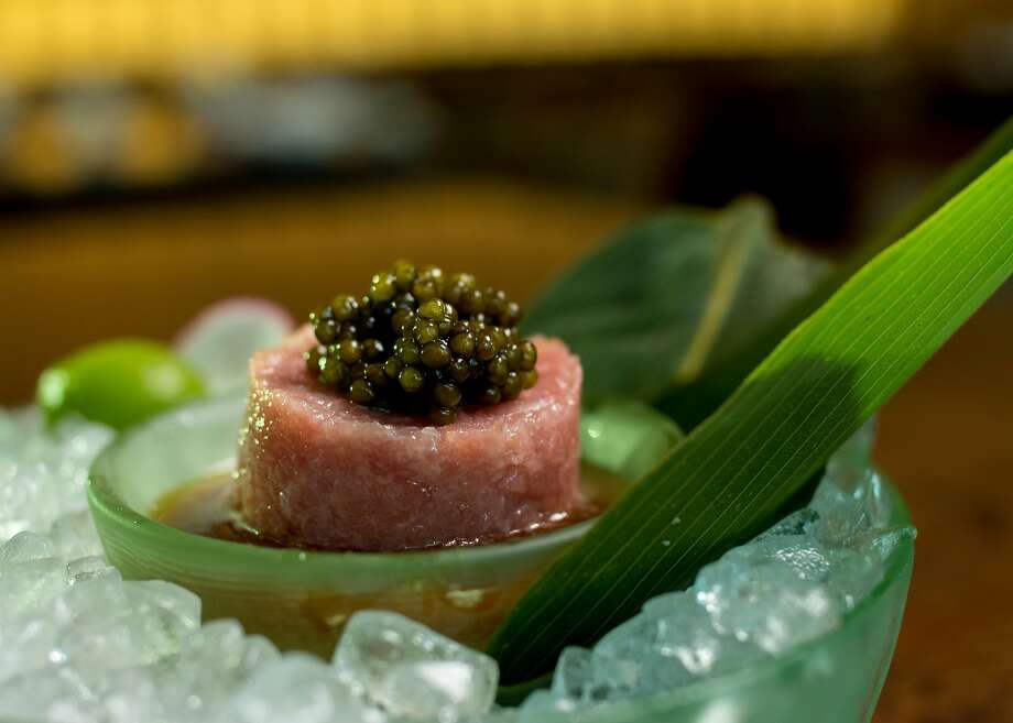 Bigeye and bluefin toro tartare at Nobu in Palo Alto. Photo: John Storey, Special To The Chronicle