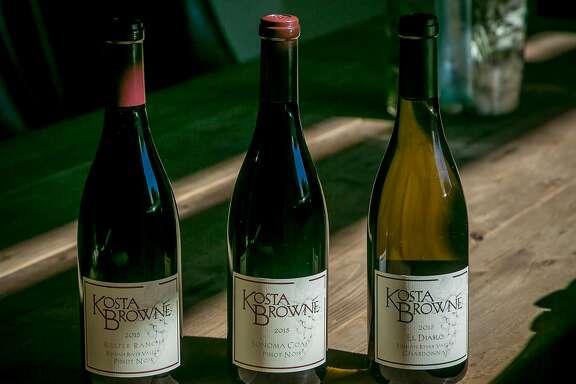 The wines of Kosta Browne Winery in Sebastopol, Calif., are seen on October 22nd, 2017.