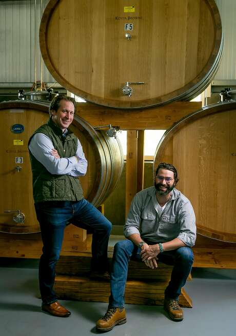 Scott Becker (left) and winemaker Nico Cueva of Kosta Browne Winery in Sebastopol. Photo: John Storey, Special To The Chronicle