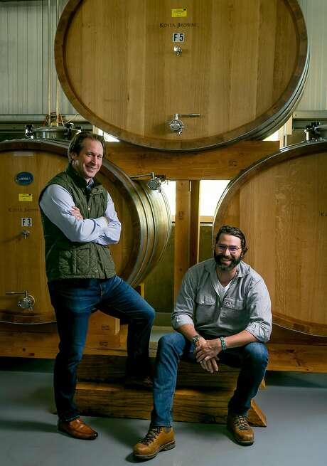Scott Becker (left) and winemaker Nico Cueva of Kosta Browne Winery in Sebastopol. Photo: John Storey, Special To The Chronicle