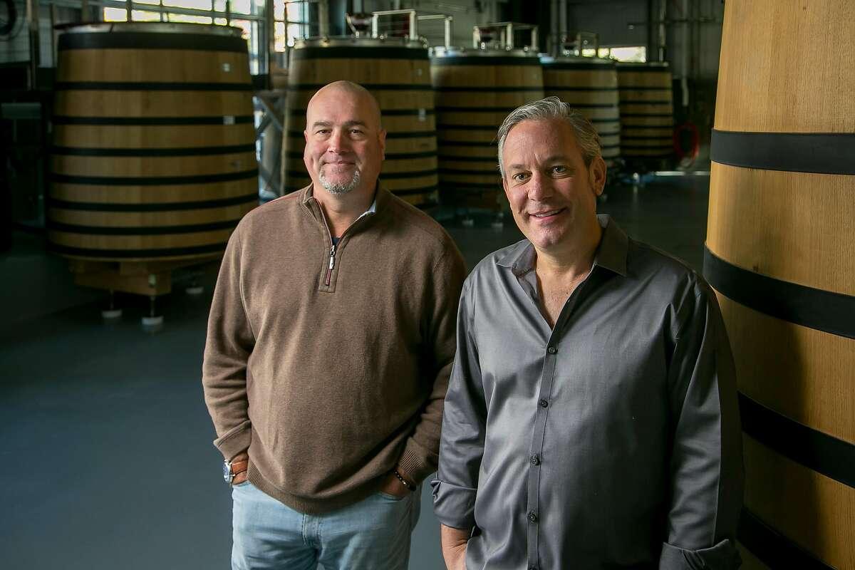 Dan Kosta, (left), and Michael Browne of Kosta Browne Winery in Sebastopol, Calif., are seen on October 22nd, 2017.