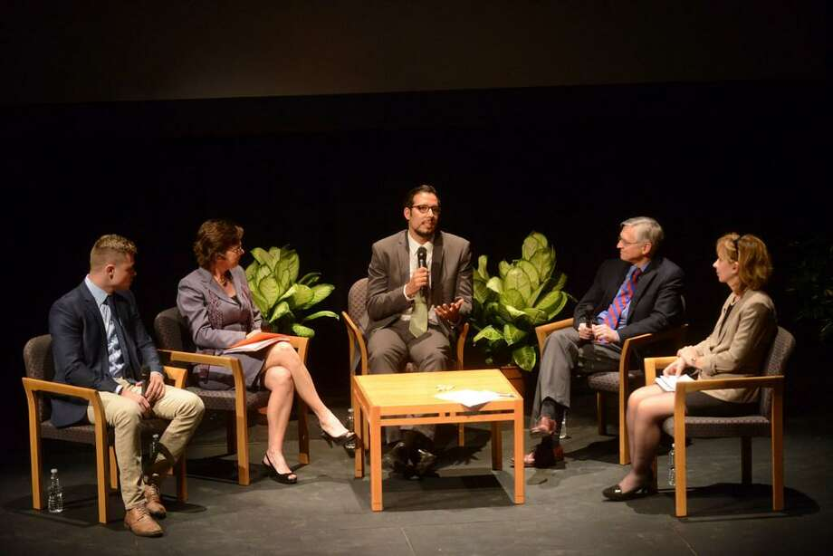 Panelists discuss the opioid crisis locally at a recent town hall hosted by the Express-News and the University of Texas at San Antonio. The city must keep this conversation going. Photo: Billy Calzada /San Antonio Express-News