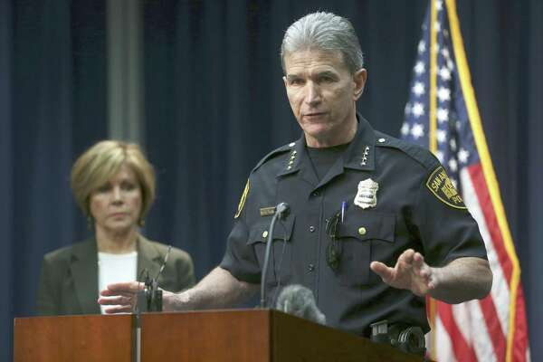 San Antonio Police Chief William McManus spoke Oct. 26, 2017, during a news conference about a police detective accused of mishandling more than 130 sexual assault and family violence cases. On Tuesday, McManus said he is making 10 procedural changes within several of the department's specialized units to increase supervisor oversight and prevent similar problems.