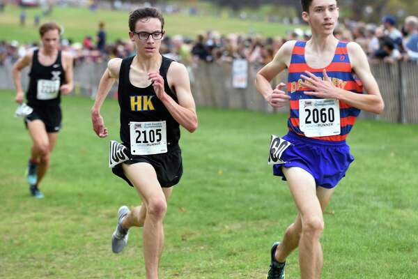 The 2017 CIAC Fall Championship Boys Cross Country race in Manchester on November 3, 2017.