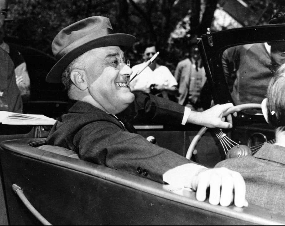 "At his State of the Union address in 1939, Franklin Delano Roosevelt said, ""There comes a time in the affairs of men when they must prepare to defend not their homes alone but the tenets of faith and humanity on which their churches, their governments, and their very civilization are founded."" Photo: FILE /Associated Press"
