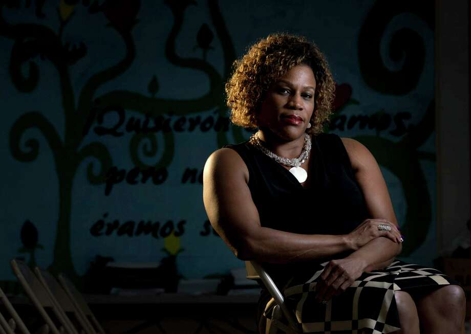Tarsha Jackson, the mother of Marquieth Jackson, poses for a portrait at the offices for the Texas Organizing Project, Thursday, Sept. 28, 2017, in Houston. Photo: Jon Shapley, Houston Chronicle / © 2017 Houston Chronicle