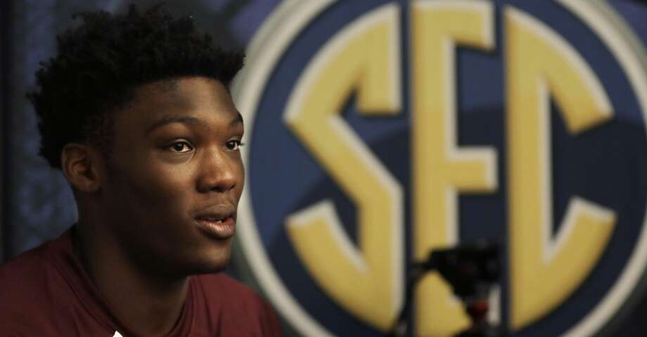 Robert Williams of Texas A&M answers questions during the Southeastern Conference men's NCAA college basketball media day Wednesday, Oct. 18, 2017, in Nashville, Tenn. (AP Photo/Mark Humphrey) Photo: Mark Humphrey/Associated Press
