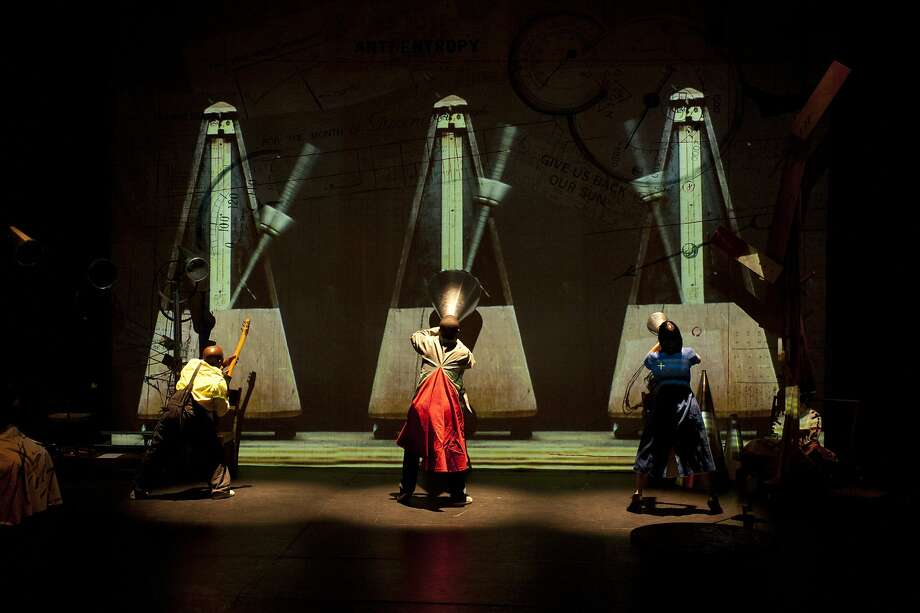 "William Kentridge's ""Refuse the Hour,"" a hodgepodge of theatrical, visual and musical effects, provides a meditation on the nature of time for an exuberant evening. Photo: John Hodgkiss"