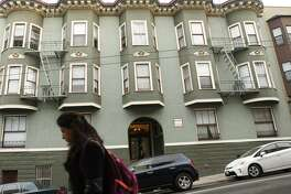 One of the buildings owned by Veritas Investments in the Nob Hill neighborhood as seen in San Francisco Calif. on Friday, November 3, 2017. Veritas Investments, San Francisco's largest residential landlord, is partnering with Airbnb to allow tenants in five Veritas buildings including this one to offer short-term rentals of their apartments.